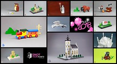 My LEGO creations 2018 - Snot your world (moctown) Tags: lego moc owl gandalf bison woodentoy icebear mosque mole houseofone coffeemill snotyourworld micro church