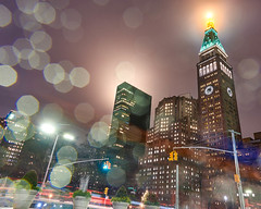 NYC rainy night (mkc609) Tags: newyork newyorkcity nyc rain metlife 23rdstreet streetlights nightphotography night nightlife purple raindrops nightview bluehour
