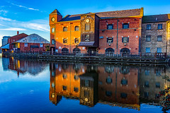 Wigan 09 Jan 2019 00123.jpg (JamesPDeans.co.uk) Tags: warehouse goldenhour forthemanwhohaseverything england wigan gb printsforsale industry windows europe brickbuilt canals commerce unitedkingdom canal reflection transporttransportinfrastructure britain water lancashire wwwjamespdeanscouk landscape architecture greatbritain landscapeforwalls jamespdeansphotography uk digitaldownloadsforlicence