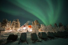 aurora 2.2.2019 (Hotel Korpikartano) Tags: korpikartanofi revontulet auroraborealis northernlights northernfinland inarilapland menesjarvi canon6d irix irix15mm finnishlapland