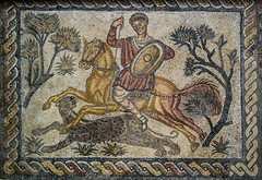 Cacería de la pantera (Fernando Two Two) Tags: mosaico mosaic lastiendas mérida emerita roman romano antic panther pantera hunter caza cazador