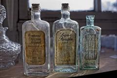 three old glass bottles cl (Mallybee) Tags: mirrorless vintage glass bottles old mallybee apsc bayer fuji fujifilm eterna neewer 25mm f18 manual xmount prime xt100