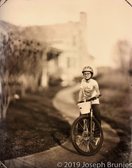 11x14 Portrait (Joseph Brunjes) Tags: 11x14 2019 brunjes chamonix joseph nc ulf bike collodion girl largeformat portrait tintype wetplate