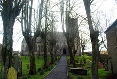 St Margaret's Church (zawtowers) Tags: hawes north yorkshire upper wensleydale dales england countryside rural market town famous cheese saturday 16th february 2019 dry sunny bright st margarets church parish place worship hill raised cemetery view spooky trees bare