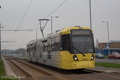 Manchester Metrolink 3080 (Mike McNiven) Tags: manchester metrolink tram metro lightrail lrv manchesterairport airport victoria baguley marketstreet