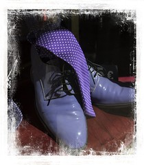 Blue Shoes (Audrey A Jackson) Tags: canon60d malaga spain shoes tie colour blue laces