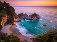 Paradise Bay (AlexKr81) Tags: usa seascape sunset mcwayfall juliapfeifferburnsstatepark bigsur