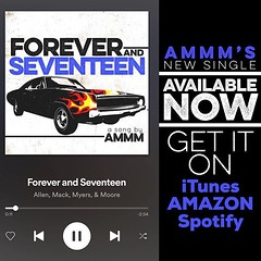 #Repost @zackmack513: Another song out in the world... this feeling never gets old. Thank y'all for listening. #ammm #foreverandseventeen (AllenMackMyersMooreNation) Tags: allen mack myers moore ammm