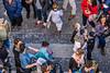 134-Confetti warrior (Alain COSTE) Tags: bordeaux carnaval coursvictorhugo déguisement enfants lesgens parkingvictorhugo pointdevue procession sociabilité confetti défilé foule hauteur miroirdeau mère passagepiéton poussette rue gironde france fr