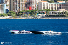 Marauder 50 AMG GTS - 15,76m - Cigarette Racing & 515 AMG Project One - 15,69m - Cigarette Racing (Raphaël Belly Photography) Tags: rb raphaël monaco raphael belly photographie photography yacht boat bateau superyacht my yachts ship ships vessel vessels sea motor mer m meters meter marauder 50 amg gts 15m 15 16m 16 cigarette racing silver argent gris grigio purple violet pink 515 project one grey grise black noir noire nero nera