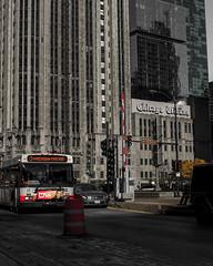 Chicago Tribune, Morning (Jay_Ruz) Tags: chicago chitown windycity city urban tribune newspaper bus lumix mf morning sun shadows illinois midwest