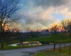 An Ozarks poem.... (Sherrianne100) Tags: farm quiet peaceful sunset pond ozarks fence barn rural missouri
