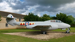 This old Meteor T.7 used to be preserved at RAF....Innsworth. (Alfred Fartknocker) Tags: meteor t mark 7 vw453 t7