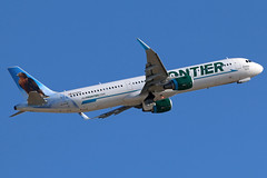 N723FR FRONTIER A321-211SL at KCLE (GeorgeM757) Tags: n723fr frontier a321211sl airbus aircraft aviation airplane georgem757 kcle flying canon70d