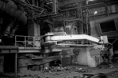 The Mighty Arm (Alfred ter Wal) Tags: film filmisnotdead analog bw rolleirpx400 800 push furnace iron steel urbex industry industrial
