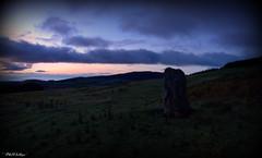 """ The Standing Stone "" ("" P@tH Im@ges "") Tags: dawn bronzeage standingstone ritualistic slaughterhill sun irishsea"