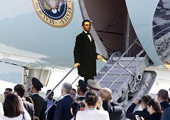 Another time (Swissrock-II) Tags: airforceone abraham lincoln president usa plane flugzeug photoshop oil photomanipulation