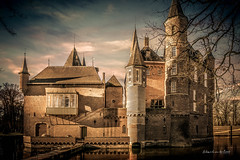 Kasteel Heeswijk 2019 (EBoss Fotografie) Tags: castle kasteel heeswijk denbosch netherlands holland colors dark ancient architecture building soe supershot twop canon sky clouds water shadow tower painting