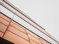 Kupfer (Peter Glaab) Tags: architektur ausen diagonalen fassade geometrie hafen hamburg himmel kupfer linien olympus strukur zuiko geometric lines m43 patterns sky