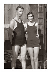 Portrait 059-48 (Steve Given) Tags: socialhistory familyhistory portrait couple swimwear