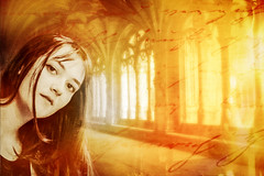 Dreams rambling round the cloister (gotan-da) Tags: model modelo female femme frau beauty natural brunette girl woman belle bellezza compositing collaborativework jaimelebre