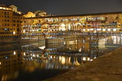 DSC09385 (Fulvio aXu) Tags: florence firenze luci lights ponte vecchio old bridge christma natale feste holiday arno river tuscany toscana
