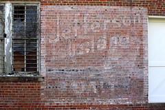 Jefferson Island Salt faded ad - Andalusia, AL (SeeMidTN.com (aka Brent)) Tags: andalusia al alabama covingtoncounty jeffersonislandsalt faded ad advertisement wallad bmok 1956