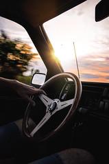 Sunset drive is my favourite (Carol_Mx5_) Tags: vw jetta nardi steeringwheel sunset drive trip weekend 50mm 50mmphotography travel journey road nikon d90 low static