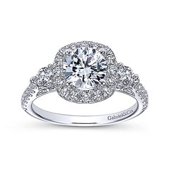 Blooming Floral Hints Surround Pave Diamond Band and Halo for Round Cut 14k White Gold Engagement Ring Setting (diamondanddesign) Tags: bloomingfloralhintssurroundpavediamondbandandhaloforroundcut14kwhitegoldengagementringsetting er6995w44jj bridal rd engagement rings gbbr 65 075 ct gabriel ny diamond 14k white gold lifestyle