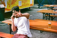 (youngkurama) Tags: wynwood art district miami florida shooting photography film 35mm canon canonrebel colors life traveling february 2019 casey portrait peace love rarepanther beer iphone outdoors