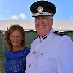Commissioner of Police, Derek Byrne & Mrs Byrne (Cayman Islands Government Information Services) Tags: cayman royal visit charles prince wales camilla duchess cornwall owen roberts international airport united kingdom great britain