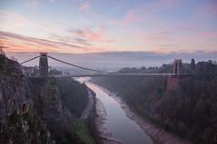 Dawn in the Gorge (Baker_1000) Tags: 2018 bristol cliftonsuspensionbridge suspensionbridge bridge avongorge riveravon dawn sunrise winter nikon d90 nikond90 raw