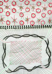 Binding (Daniel Ari Friedman) Tags: danielarifriedman drawing art pen paper ink freehand black red color