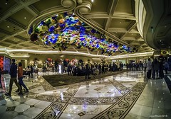 Bellagio Lobby_HDR (evanffitzer) Tags: chihuly gopro bellagio glass sculpture art wideeye lobby hotel ceiling colour floor marble wide indoors evanfitzer evanffitzer photography photographer hdr