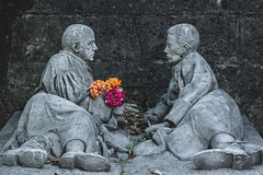 Undying Love (Giovanni Piero Pellegrini) Tags: love romantic romance eternal undying flower flowers grave graveyard art artistic cemetery moving touching grey death afterlife