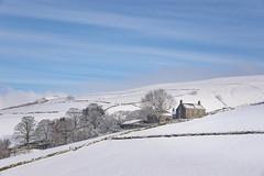 House on the hill (Keartona) Tags: house hayfield hills hill hillside bluesky sky winter morning beautiful rural landscape field kinderscout snow snowy white blue england derbyshire peakdistrict highpeak