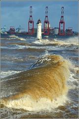 Storm ERIK (New Brighton Wirral UK) 9th February 2019 (Cassini2008) Tags: atlanticstormerik stormerik newbrighton wirral waves weather sea coast