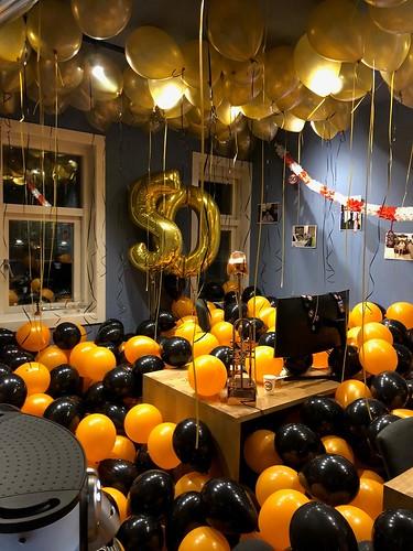 Heliumballonnen Kantoor vol Ballonnen J. de Jonge Vlaardingen