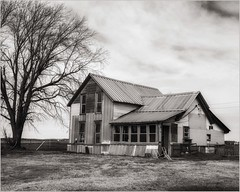 Another Fixer Upper - Has a Newer Roof (A Anderson Photography, over 3.1 million views) Tags: house abandoned canon metalroof mono bw
