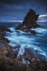 Madeira - Santa Catarina (030mm-photography) Tags: rot madeira santacruz seastack felsen klippen treppen cliffs rocks stairs sunrise sonnenaufgang landschaft landscape nature natur sea meer atlantic atlantik ocean travel reise