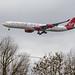 London Heathrow Airport: Virgin Atlantic Airbus A340-642 A346 G-VNAP