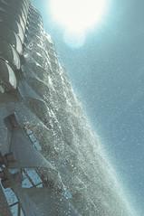 water pearls (Behni88) Tags: water woda eau vann wasser fontaine fountain fontaene fontane fontanna glass szklo sun sonne soleil light licht swiatlo blue blau niebieski granatowy goluboj white weiss bialy vhit blanche posen poznan drops tropfen kropelki krople fall spad cataract architecture architektur architektura