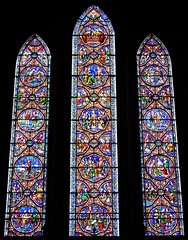 Stained glass windows (Will S.) Tags: mypics stpatrickscathedral churchofireland anglican dublin ireland church churches christian christianity anglicanism protestant protestantism stainedglasswindows