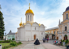 The Trinity Lavra of St. Sergius (Sergiev Posad, Russia) (KonstEv) Tags: monastery church cathedral architecture building monk orthodox sergievposad russia cross dome