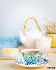 Blue Teacup 1 (omer.arahman) Tags: blue teacup tea cake slice food yummy drink hot