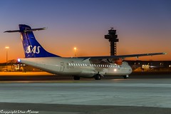 Sunrise at the HAJ Airport Scandinavian Airlines (SAS) ES-ATD (U. Heinze) Tags: aircraft airlines airways airplane sunset sunrise haj hannoverlangenhagenairporthaj eddv sonnenuntergang sonnenaufgang himmel