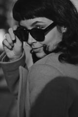 Milena (TheJennire) Tags: photography fotografia foto photo canon camera camara colours colores cores light luz young tumblr indie teen adolescentcontent blackandwhite fashion toronto canada bangs sunglasses natuallight spring closeup 2019 hair eyes look