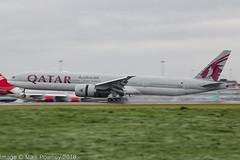 A7-BEE - 2015 build Boeing B777-3DZER, arriving on a saturated Runway 23R at Manchester (egcc) Tags: 1314 60331 a7bee b773 b777 b777300 b777300er b7773dzer boeing egcc lightroom man manchester qr qtr qatarairways ringway triple triple7