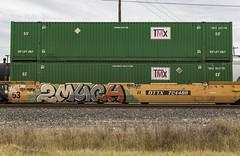 (o texano) Tags: houston texas trains freights bench benching graffiti 2much