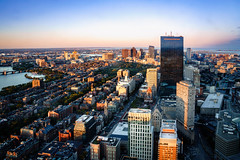 Boston aerial view with skyscrapers at sunset (Patrick Foto ;)) Tags: aerial america architecture blue boston building buildings business center charles city cityscape district downtown england exterior fenway hancock highway historic landmark landscape ma massachusetts metropolis modern new office outdoor panorama panoramic park prudential river sightseeing sky skyline skyscraper skyscrapers states street sunset top tourism tower travel united urban usa view